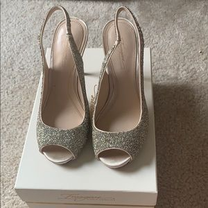 Sparkly high  heeled shoes